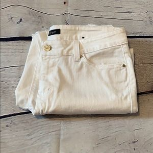 White House Black Market distressed jeans size 8
